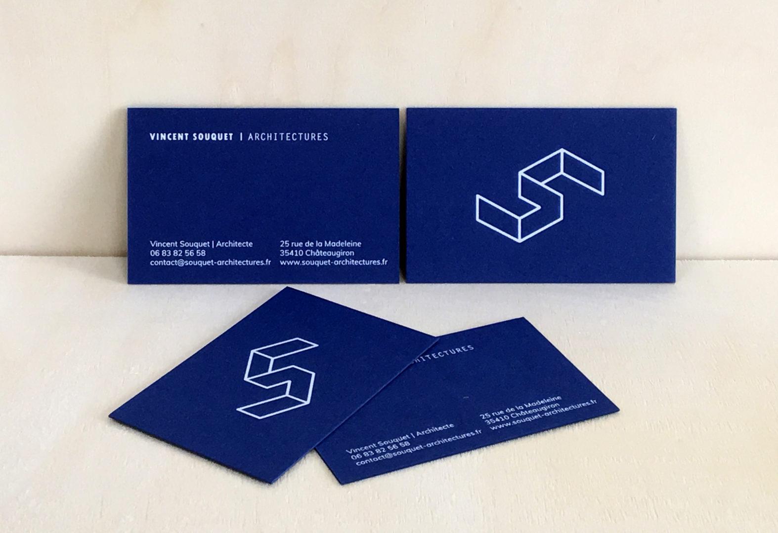 carte de visite letterpress - studio A5