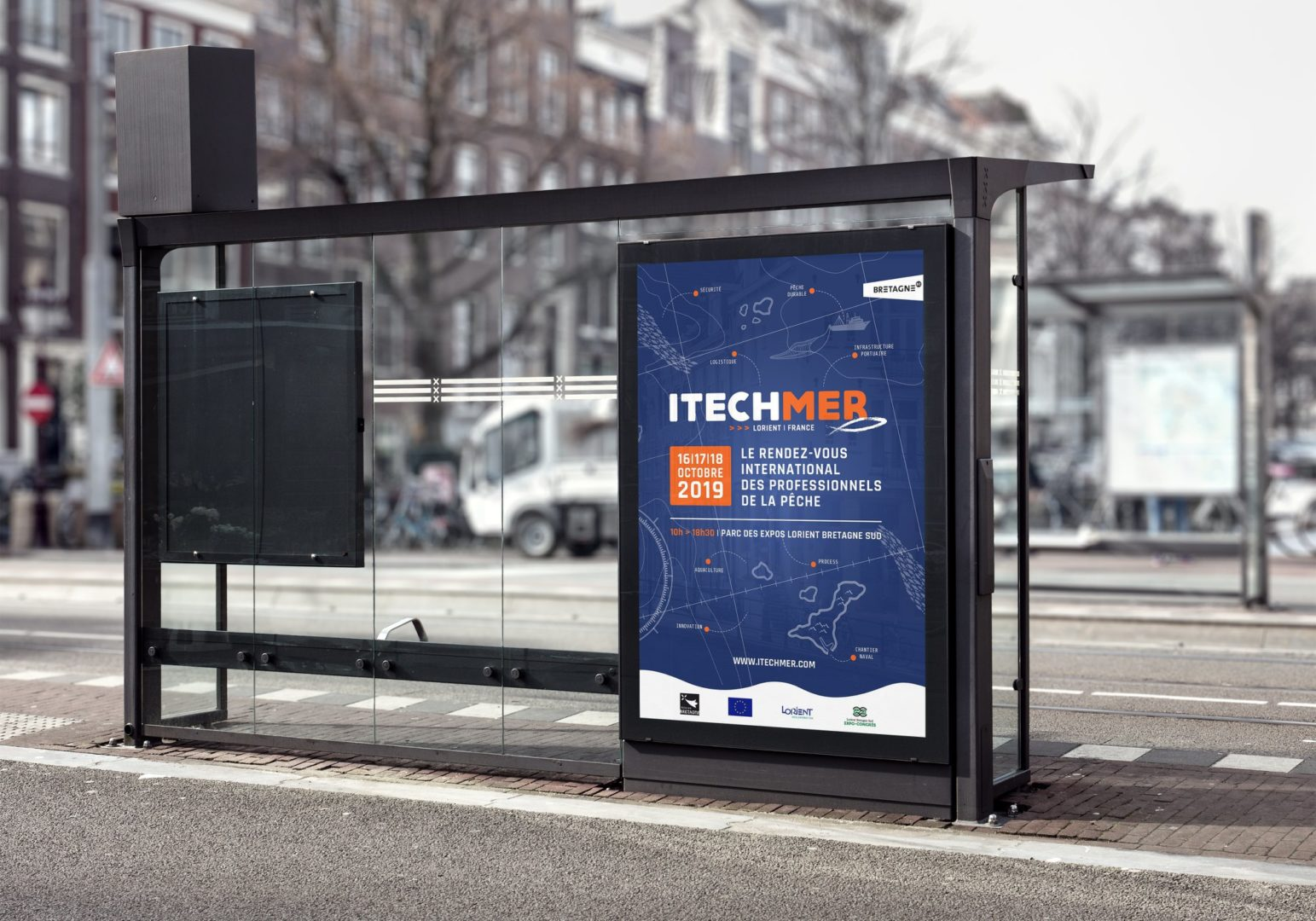 Affiche abri-bus ItechMer
